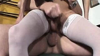 Assfucked trans rides cock with passion